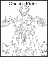 Online Ghost Rider Printable Coloring Page Superheroes