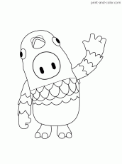 Fall guys coloring pages | Print and ...print-and-color.com