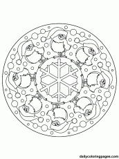 Christmas Mandalas - Coloring Pages for Kids and for Adults