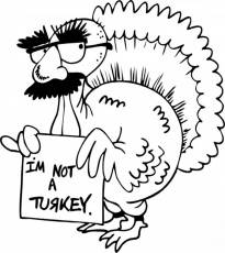 Funny Turkey Thanksgiving Coloring Pages - Animal Coloring Page ...