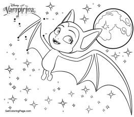 Vampirina Coloring Pages Bat In Night Sk #1372240 - PNG Images - PNGio