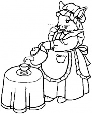 Apazing To Print Alice In Wonderland Tea Party Coloring Pages For ...