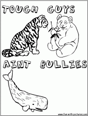 bully free zone coloring page free printable coloring pages