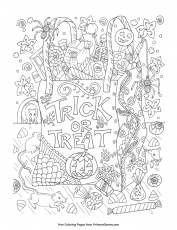 Trick or Treat Coloring Pages Popular (Page 1) - Line.17QQ.com