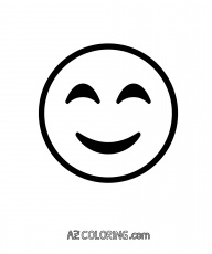 Smiling Face With Smiling Eyes Emoji Coloring Page