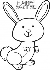Baby Bunny For Kids - Coloring Pages for Kids and for Adults