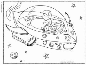 Alien Coloring Page - Coloring Pages for Kids and for Adults