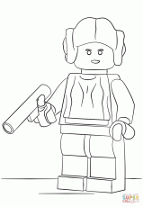 lego princess leia coloring page free printable coloring pages