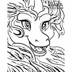 Raya And The Last Dragon Coloring Pages Face of Sisu - XColorings.com