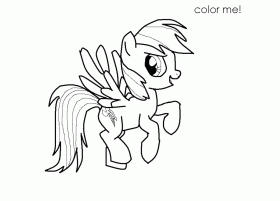 Rainbow Dash Printable - Coloring Pages for Kids and for Adults