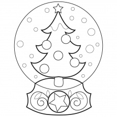 Christmas Globe Coloring Pages - Coloring Pages For All Ages