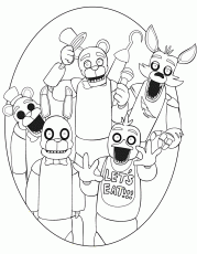 Five Nights At Freddy coloring pages