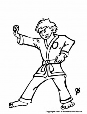 10 Pics Of Karate Boy Coloring Pages