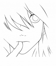Near Death Note Chibi Coloring Pages Coloring Pages - Line ...