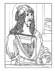 Albrecht Durer. Self-Portrait. Coloring ...teacherspayteachers.com · In stock