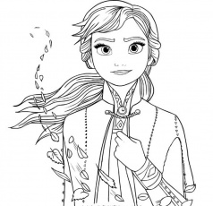 Ana Frozen 2 coloring pages