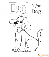 D Is For Dog 01 Coloring Page | Free D Is For Dog Coloring Page