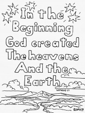 Free In The Beginning God Created Coloring Pages, Download Free ...