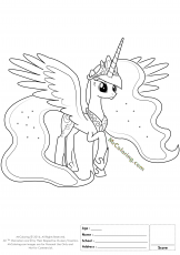My Little Pony Princess Luna Coloring Page - 1 | MrColoring.com