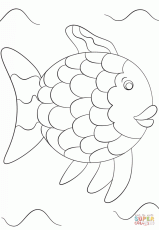 Rainbow Fish Template coloring page | Free Printable Coloring Pages