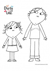 lola and charlie coloring pages