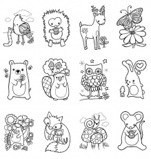 free woodland creature coloring pages