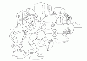 fireman coloring pages free printable : Printable Coloring Sheet