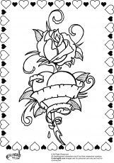 Roses Coloring Pages - GetColoringPages.com