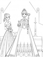 queen elsa and princess anna coloring pages 50 beautiful frozen ...