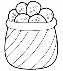 Snacks Coloring Pages - MomJunction