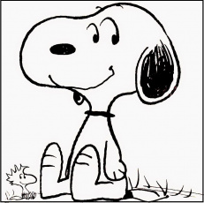 snoopy and woodstock smiling coloring pages for kids fx2