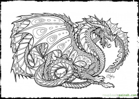 Free Download Dragon Coloring Pages Realistic - Toyolaenergy.com