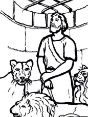 Coloring Pictures Of Daniel And The Lions Den