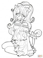 Anime Girls Coloring Pages For Girls - Coloring Pages For All Ages