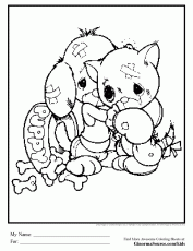 puppy and kitten coloring pages | www.pavingmaze.com