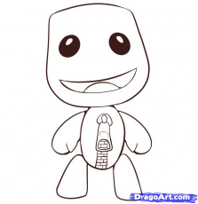 Little Big Planet Coloring Page Coloring Home Coloring Page Big Planet