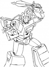 Transformers Ready To Fight 159002 Ironhide Coloring Pages