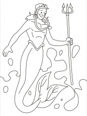 merman coloring pages