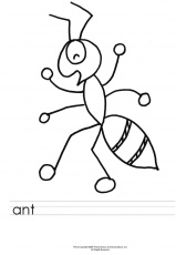 hey little ant coloring page