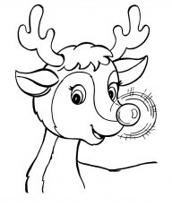 rudolph the red nosed reindeer coloring page