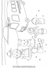 Calico Critters Coloring Pages 627 | Free Printable Coloring Pages