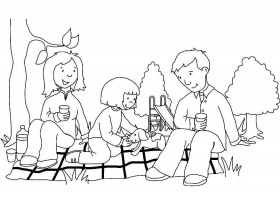 Coloring page picnic - img 7322.