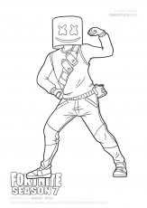 Marshmello | Fortnite coloring page - Color for fun