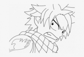 Drawn Fairy Tale Natsu Dragneel - Fairy Tail Natsu Drawing PNG ...