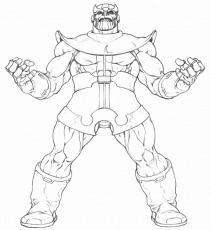 Power Of Thanos Coloring Page - Free Printable Coloring ...