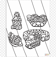 click the zentangle desserts coloring pages to view - line art PNG image  with transparent background | TOPpng