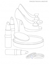 Makeup coloring pages. Free Printable Makeup coloring pages.