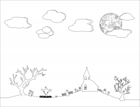 Free Night Sky Clipart Black And White, #1644995 - PNG Images - PNGio