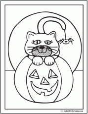 72+ Halloween Printable Coloring Pages: Jack O'Lanterns, Spiders, Bats