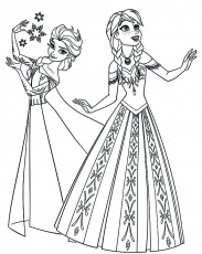 Queen Elsa Coloring Page - behindthegown.com